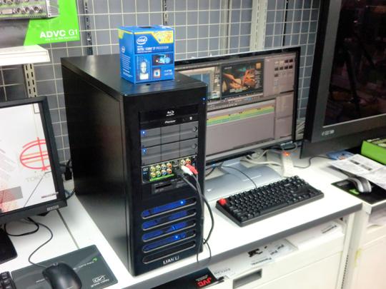 新CPU搭載のビデオ編集PC登場