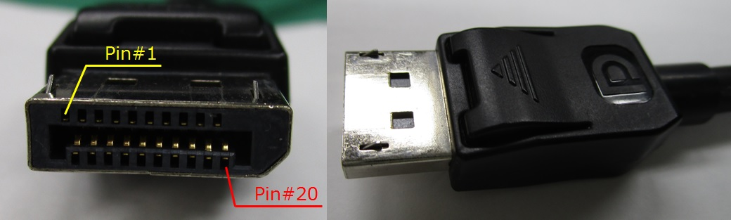 DisplayPortケーブルの例