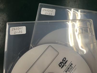 それぞれ録画時間の記載が入っています