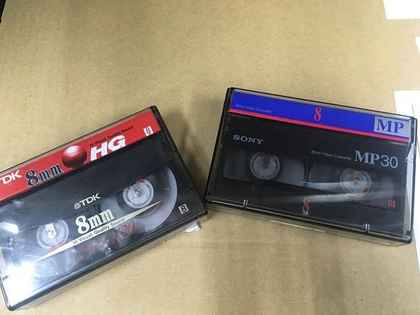 昔懐かし8mmビデオテープ