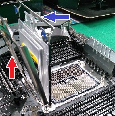マザーボードの例(ASUS PRIME X299-Aの場合)