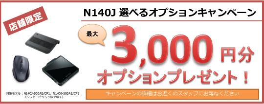 最大3,000円分オプションプレゼント!
