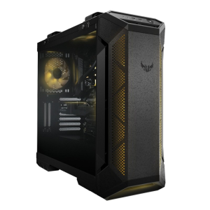 TUF Gaming GT501 サイドパネルに4mm厚スモーク強化ガラスを採用したミドルタワー型PCケース