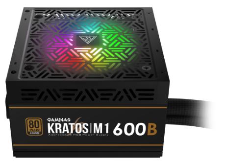 KRATOS M1-600B アドレサブルRGB同期対応80PLUS BRONZE認証600W電源