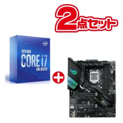 Core i7-10700K BOX BX8070110700K ROG STRIX Z490-F GAMING LGA1200 (第10世代)対応 Core i7 と Intel Z490 搭載 LGA1200対応 ATXマザーボードセット品