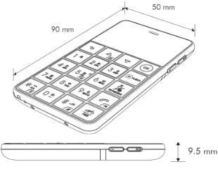 カードサイズのSIMフリー携帯