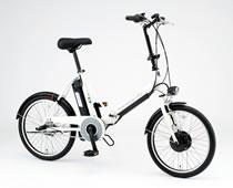 SANYO 折りたたみ式 電動ハイブリッド自転車 CY-SPJ220(W)