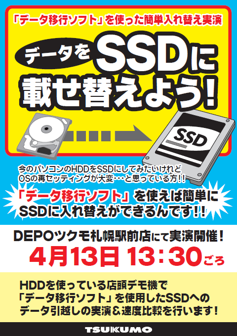 HDDからSSDに載せ替えよう!!
